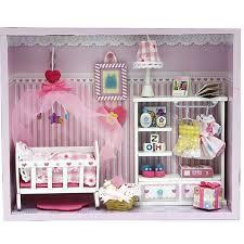 miniature doll house furniture miniatura model building kits 3d handmade wooden dollhouse birthday giftbeauty brand baby wooden doll house