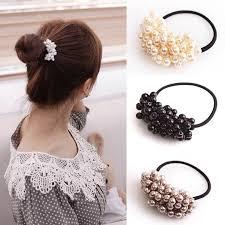 <b>Korean</b> Pearl Hair Ring Beaded <b>Multi</b>-layer Hair Ring High <b>Elastic</b> ...