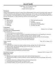 Resume Template Job Objective For Customer Service Resume Job            Customer Service Representative Resume Sample