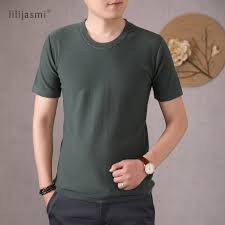 2020 Round Neck T shirt Quality <b>Men's 100</b>% <b>Cotton Knitted</b> T shirt ...