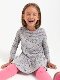 <b>Комплект</b> из платья и <b>леггинсов</b> для девочек цвет: серый, артикул ...