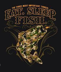 <b>EAT SLEEP FISH</b> CAMO SHORT SLEEVE TEE SHIRT SIZE XXL ...