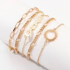 Buy <b>5 Pieces Women's Fashion</b> Bracelets Ladylike Charming ...