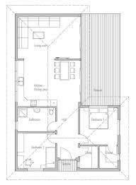 Open plan  Vaulted ceilings and Small house plans on PinterestSmall House Plan to narrow lot   two bedrooms  open plan  vaulted ceiling in