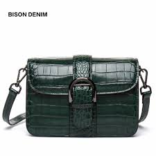 <b>BISON DENIM</b> Designer Genuine <b>Leather</b> Women Messenger Bags ...
