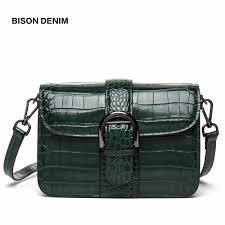 BISON DENIM Designer <b>Genuine Leather Women Messenger</b> Bags ...