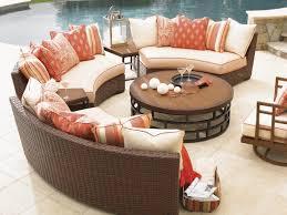 patio hampton wicker curved