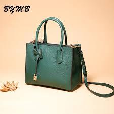 100% Quality Genuine Leather BYMB Fashion Top Handle Bags Big ...