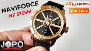 <b>Naviforce NF9155</b> - Gold Luxury <b>Watch</b>   Wristwatch Review ...