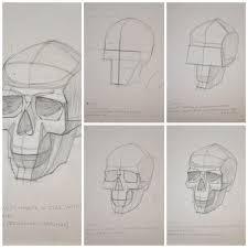 Нарисовать <b>череп</b> человека пошагово?