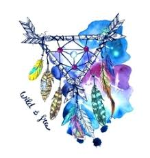 <b>Feathers</b> Watercolor <b>Bohemian</b> Vector Images (over 100)