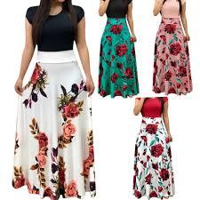 <b>flower printing color matching</b> dress long skirt long sleeve – Zoppah ...