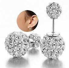 DIB Luxury <b>Hot Sale Double Sided</b> Crystal Pearl Beads Earrings Ear ...