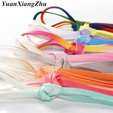 <b>1Pair Colorful Silk shoelaces</b> Candy Gradient Party Camping Boots ...