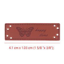 <b>10pcs</b> Random Diy Craft <b>Handmade</b> Square Label <b>PU Leather</b> ...