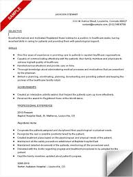 download template objectives in resume for nurses