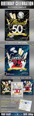 best posters and flyers templates of new year design birthday invitation templates club flyer style