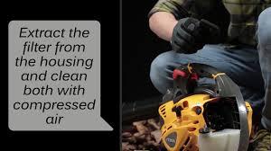 Blower <b>SBL 327</b> V - How to clean the air filter | <b>STIGA</b> - YouTube