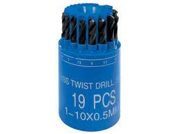 Купить <b>Набор сверл Металл</b>, 1-10 мм (через 0, 5 мм), HSS, 19 шт ...