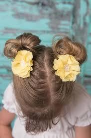 Yellow hair clip pearl <b>chiffon baby</b> toddler <b>child teen</b> women yellow ...