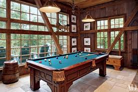 modern billiard room home billiards. antique billiard lamps shine on the pool table in a pennsylvania home decorated by penny drue modern room billiards