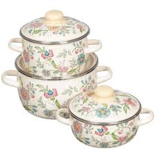 <b>Набор эмалированной посуды</b> СтальЭмаль Луговые цветы ...
