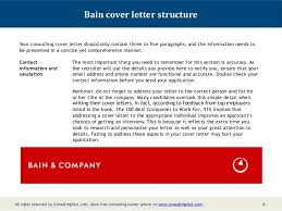 3 4 bain cover letter structure your consulting cover letter consulting