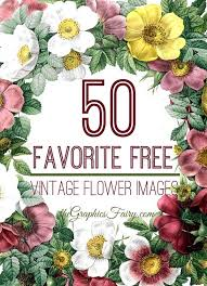 50 Favorite Free <b>Vintage Flower</b> Images! - The Graphics Fairy