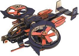 WZLDP DIY assembly 3D wooden <b>poison</b> scorpion <b>fighter</b> gunship ...