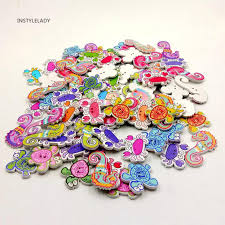 Iy <b>50Pcs</b> Sea <b>Marine</b> Animals Fish Crabs Seahorse 2 Holes Sewing ...