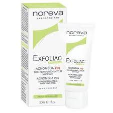 noreva exfoliac acnomega 200 matifying care крем 30мл