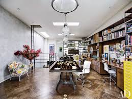 rustic reclaimed wood interior photos architectural digest when remodeling the top level of her brooklyn brownstone into a floor through home office brooklyn modern rustic reclaimed wood