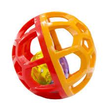 Погремушка <b>Little Hero Шарик-погремушка</b> красный/оранжевый