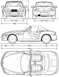 bmw z3 e367 blueprints bmw z3 roadster e36 1996