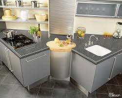 corian kitchen top: dupont corian worktop k grey kitchen by ream