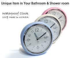 waterproof bathroom wall clocks suction