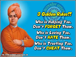 3 Golden Rules Swami Vivekananda Quotes in English With Images for FB via Relatably.com