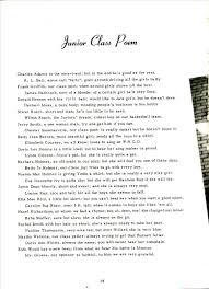symsonia high school yearbook memoirs  junior class poem