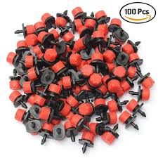 100 pcs adjustable irrigation sprinkler drip system emitters dripper garden supplies
