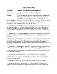 assistant preschool teacher resume s teacher lewesmr sample resume resume exles for preschool teacher