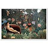 Henri Rousseau Exotic Landscape with Lion and ... - Amazon.com