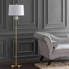 "Vaughn 60"" <b>Modern</b> Metal/<b>Resin LED</b> Floor Lamp, Brass Gold/White ..."