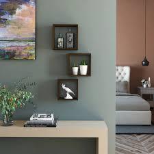 <b>Набор</b> мебельных полок «Квадрат», 30/27/24 см, цвет венге, <b>3</b> шт.