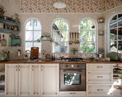 Shabby Chic Colors For Kitchen : Shabby chic style kitchen with colored appliances design ideas