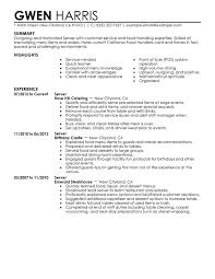 resume examples for caregiver skills free sample resumes dining server resume sample my free server resume templates