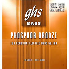 GHS L9000 Phosphor Bronze <b>Acoustic</b>-Electric Bass Guitar Strings ...