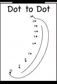 Dot to Dot – Numbers 1-10 – One Worksheet – Banana / FREE ...dot to dot