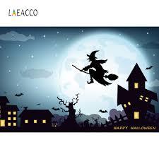 <b>Laeacco</b> Vinyl Photography Backdrops Halloween Party ...