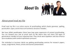 Thesis proofreading SlideShare