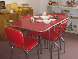 1950s Dining Room Furniture 1950s Red Cracked Ice Dining Set Fabfindsblog Products Living